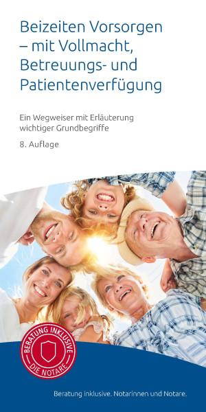 """Infobroschüre """"Beizeiten vorsorgen"""" (50er Pack)"""
