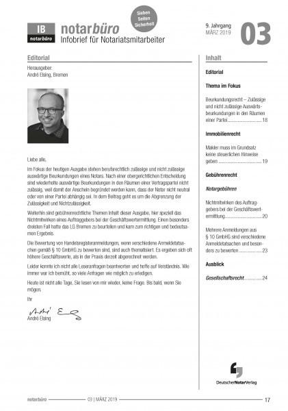 Infobrief notarbüro - kostenloses Probeabo