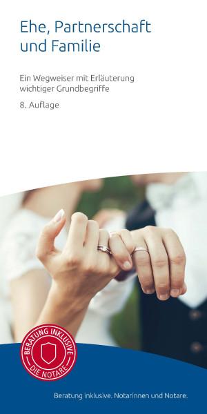 "Infobroschüre ""Ehe, Partnerschaft und Familie"" (50er Pack)"