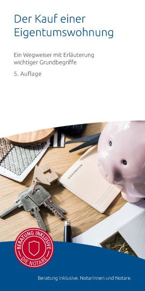 """Infobroschüre """"Der Kauf einer Eigentumswohnung"""" (50er Pack)"""