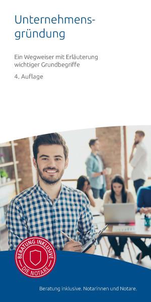"""Infobroschüre """"Unternehmensgründung"""" (50er Pack)"""