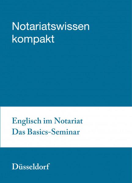 26.03.20 in Düsseldorf - Englisch im Notariat