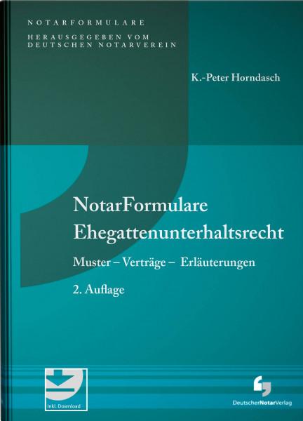 NotarFormulare Ehegattenunterhaltsrecht