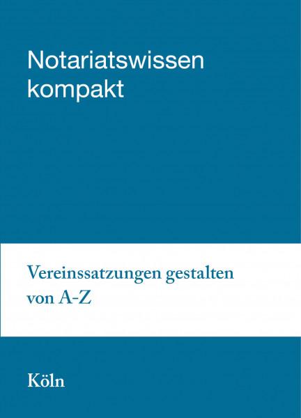 22.04.20 in Köln: Vereinssatzungen gestalten von A bis Z