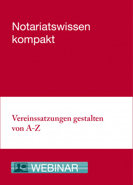 Online-Seminar: 18.06.20 - Vereinssatzungen gestalten von A bis Z